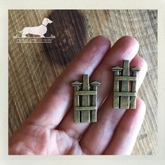CLEARANCE Zen. Post Earrings  Rustic Simple by PickleDogDesign