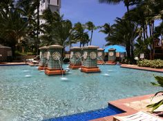 Beautiful pool for the perfect family vacation at the San Juan Marriott Hotel. #SanJuanMarriott #MyWay to SanJuan