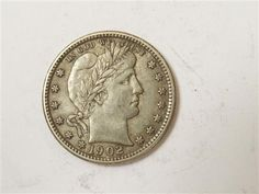 US 1902 Barber Silver Quarter Dollar Coin  Featured in the US Coins Auction on July 25, 2013 HamptonAuction.com