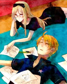 America and Belarus | AmeBel | Hetalia