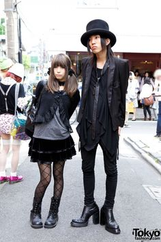 Goth Top Hat & Black Label Tux Jacket vs. Black Peace Now Jacket & Velvet Skirt