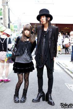 Goth Top Hat & Black Label Tux Jacket vs. Black Peace Now Jacket & Velvet Skirt