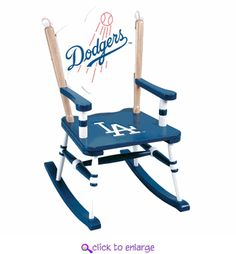 Dodgers rocking chair