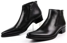 Cheap shoes genuine leather, Buy Quality leather fashion directly from China shoes business Suppliers: Large size fashion black / brow tan / blue mens ankle boots dress shoes genuine leather pointed toe man business shoes Ankle Boots Dress, Mens Ankle Boots, Mens Shoes Boots, Black Dress Shoes, Dress With Boots, Leather Boots, Shoe Boots, Men's Boots, Best Mens Shoes