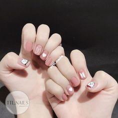 Cute Acrylic Nails, Acrylic Nail Designs, Cute Nails, Nail Art Designs, Korean Nail Art, Korean Nails, Stylish Nails, Trendy Nails, Army Nails