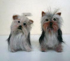Needle felted Yorkshire Terrier /Needle Felted by ElinasArtShop, $80.00