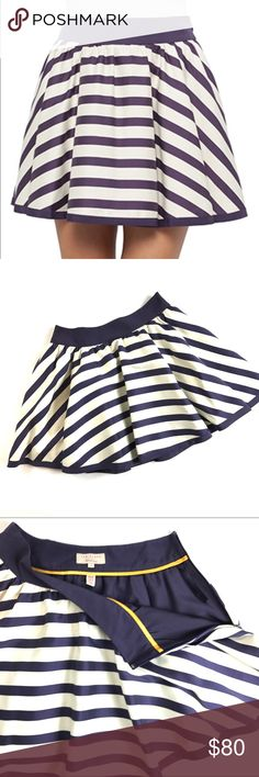"Ted Baker ""Vivvy"" Skirt Cute stripped print with hidden functional pockets and side zip. Ted Baker London Skirts Mini"