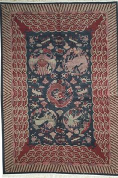NEW CONTEMPORARY TIBETAN AREA RUG 50950 - AREA RUG This beautiful Handmade Knotted Rectangular rug is approximately 6 x 9 New Contemporary area rug from our large collection of handmade area rugs with Tibetan style from China with Wool