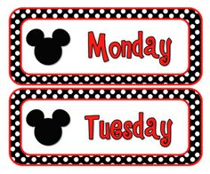 Classroom Freebies Too: Mouse Days of the Week Cards