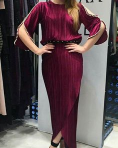 Autre style Beautiful Dresses, Nice Dresses, Casual Dresses, Summer Dresses, Caftan Dress, I Dress, Abaya Fashion, Fashion Dresses, Curvy Dress