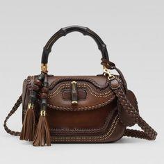 8a7497614910 Gucci New Bamboo Top Handle Bag Dark Brown 263970 Sale Gucci Handbags  Outlet, Gucci Purses