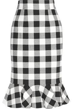 Sewing Inspiration: Dolce & Gabbana Gingham stretch-cotton skirt NET-A-PORTER.COM