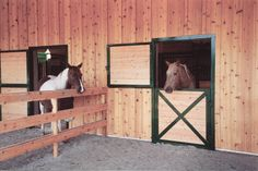 I would LOVE to have dutch doors off the back of my horses stalls that lead right outside to a pen.