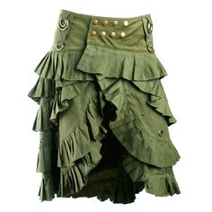 Bustle Skirt, in green