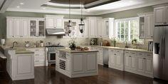 Kitchen Cabinets Kits, Glazed Kitchen Cabinets, Base Cabinets, Kitchens With White Cabinets, Kitchen Cabinet Door Styles, Garage Cabinets, Office Cabinets, Cream Colored Kitchen Cabinets, Bathroom Cabinets