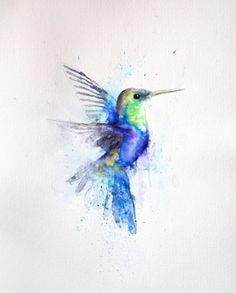 http://www.saatchiart.com/art/Painting-Hummingbird/865969/2888025/view More
