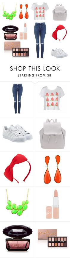 """Untitled #3"" by ebtisam1403 ❤ liked on Polyvore featuring Ally Fashion, adidas Originals, Kate Spade, Emi Jewellery and Rimmel"