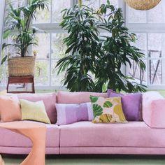 home. Little Books, Indoor Plants, Love Seat, Interior Decorating, Interiors, Colour, Places, Inspiration, Furniture