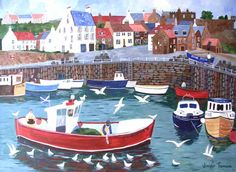 Jennifer Thomson - Artist Crail Harbour