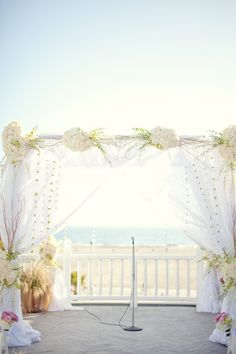 #beach #canopy Photography by sarahyates.com Floral Design by emptyvase.com  Read more - http://www.stylemepretty.com/2011/06/16/santa-monica-wedding-by-sarah-yates-photography/