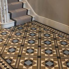 London Mosaic - Contemporary Geometric Hall Tiles. Installation by Nicola Hicks Design Tel: 07801 700723 Email: nicola@hicks5.co.uk