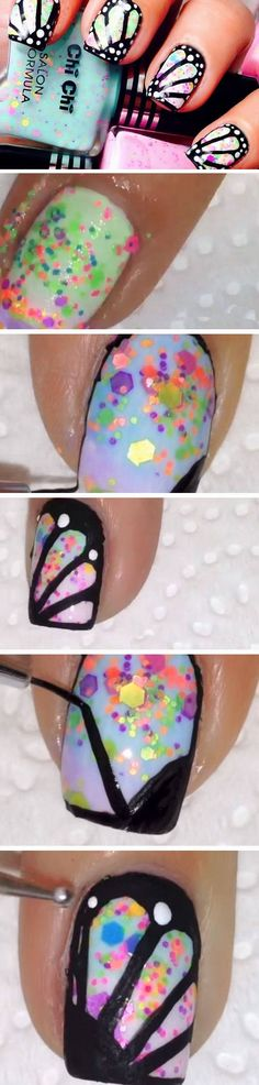 Butterfly Wings | 18 Easy Summer Nail Art for Short Nails that scream summer!