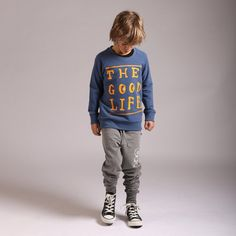 Littlehorn living the good life ! Fab jumper in muted blue and gold print. Stylish Boy Clothes, Stylish Boys, Boy Outfits, Life Is Good, Good Things, How To Wear, Jackets, Style, Fashion