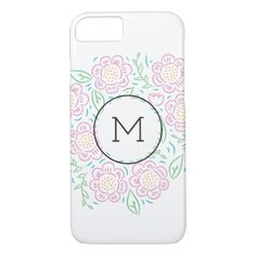 Spring Florals Monogram Phone Case - spring gifts beautiful diy spring time new year