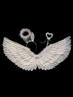 Baby angel or ailes plume avec Bandeau Nœud pour photo Costume accessoires Q
