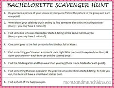 Naughty Bachelorette Scavenger Hunt Maybe As A Competition With