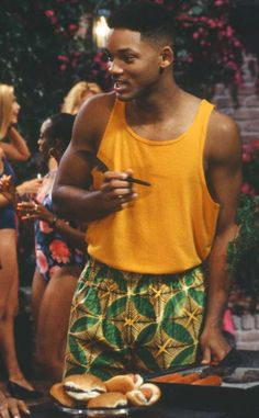 BBQ Bright from Will Smith's Craziest Looks on The Fresh Prince of Bel-Air Confession: We'd SO rock this look right now. Those pants are bananas in the best possible way.