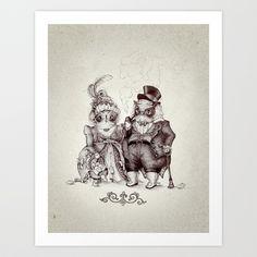 Mr Owl & The Owl Lady Art Print by Teagan White - $17.00