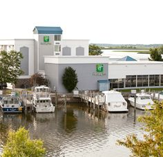 Adorable Holiday Inn on the bay in Grand Haven. Indoor & outdoor pool. Tiki bar on the bay. Workout & game room.