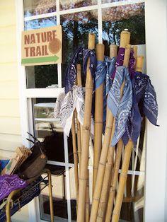 Walking sticks - camping party favor