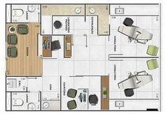 planta-consultorio-odontologico Dentist Clinic, Dental Hospital, Medical Office Design, Dental Office Design, Clinic Interior Design, Clinic Design, Office Floor Plan, Beauty Salon Design, Floor Layout