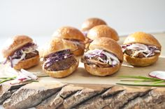 A perennial fave - our Jack & Coke pulled pork sliders, on golden brioche mini-buns.  Photographed here by FiveFifteen Photography