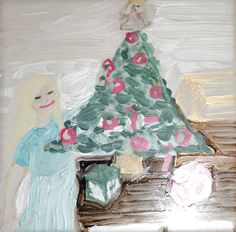 Christmas Eve - Little girl by tree  $25.00