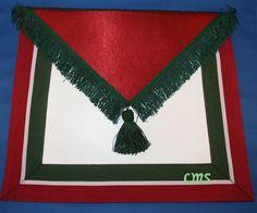 Masonic Supply Shop - Royal Order of Scotland  Member Apron, $94.95 (http://www.masonicsupplyshop.com/royal-order-of-scotland-member-apron/)