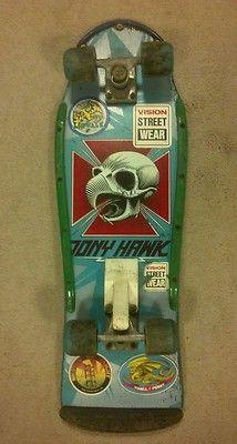 RARE Powell Peralta Tony Hawk Chicken Skull Complete Skateboard 1980's Vintage   eBay