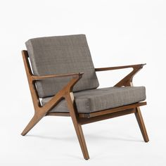 Mid Century Z Lounge Chair - Grey