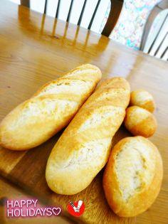 祝♡話題入り♪おうちにあるもので!簡単成型!じっくり発酵させることで本格フランスパンに近づいた!?お好きなアレンジで!
