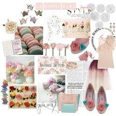 Le Bunny Bleu - Pink icing Rose Flats, created by #lebunnybleu on polyvore.com