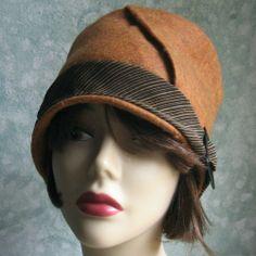 Vintage Womens HAT PATTERN- FELT WITH BIAS CUT BRIM EASY TO MAKE