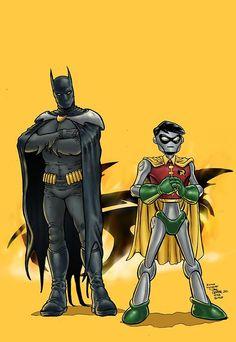 Batman and Robin 1000000 by Ramon Villalobos
