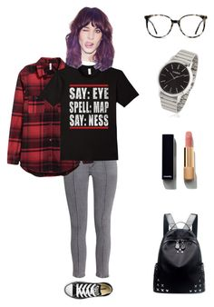 """Get a Giggle"" by maliarose86 ❤ liked on Polyvore featuring Converse, Chicnova Fashion, Ace, G-Shock and Chanel"
