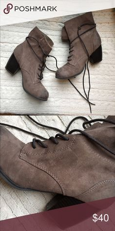 Taupe heeled booties Worn twice, Daytrip brand from Buckle, size 8.5 Daytrip Shoes Ankle Boots & Booties