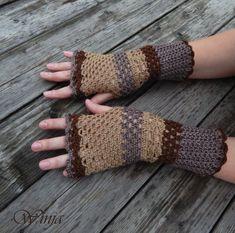 Crochet fingerless gloves, crochet mittens, lace gloves, fingerles mittens, hand knit fingerles, arm warmers, boho mittens, knitted gloves