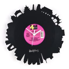 "RE_VINYL wall clock ""BEIJING"""