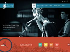 Evento - One Page Event Template. A Free Bootstrap Themes & Templates, Free Landing Page Themes, Free One Page Themes on Bootstrap Stage. Event Template, Page Template, Music Website Templates, Templates Free, Event Landing Page, Beautiful Web Design, Web Design Examples, About Twitter, Bootstrap Template