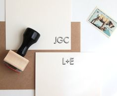 Use a custom stamp to create your own stationery.